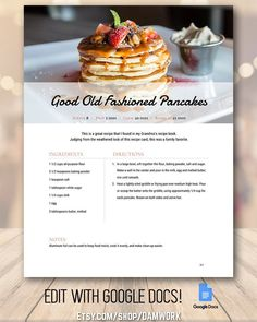 books - Recipe Book Template Frost, Family Cookbook, Editable Recipe Binder, Customizable Modern Classic Rustic Farmhouse Style, 5 Page Template Recipe Book Design, Cookbook Design, Recipe Book Templates, Cookbook Template, Food Design, Design Design, Other Recipes, Great Recipes, Budget Recipes