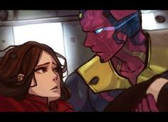 Vision and Scarlet Age of Ultron