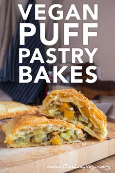 Vegan Puff-Pastry Bakes - 10 minute prep - The Easy Vegan Vegan Foods, Vegan Snacks, Vegan Vegetarian, Vegetarian Recipes, Vegan Chef, Vegan Meals, Vegan Appetizers, Vegan Dinner Recipes, Whole Food Recipes