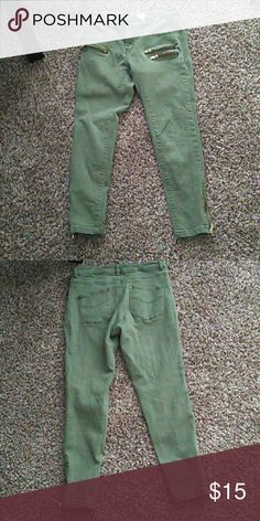 FLASH SALE qOlive Green Jeans Good condition. Size 8 H&M H&M Jeans Skinny