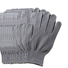 MyLifeUNIT 6 Pairs Pack Gardening Gloves for Women  Men Protective Second Skin Working Gloves  Medium Grey ** Details can be found by clicking on the image.(This is an Amazon affiliate link and I receive a commission for the sales)