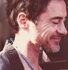 Robert Downey, Jr. - note the makeup pallette being held in front of him :)