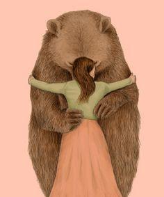 Chien Basset Hound, Wallpaper Fofos, Bear Drawing, Love Bear, Bear Art, Whimsical Art, Illustrations, Cute Illustration, Cute Art