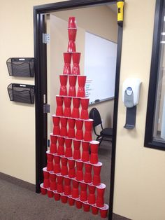April fools day at the office- maybe the boss shouldn't have taken a lunch.