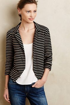 Dear stylist: I have requested a blazer for my next fix. A neutral color. Navy, black, blue. I like the look of this one from anthropologist.