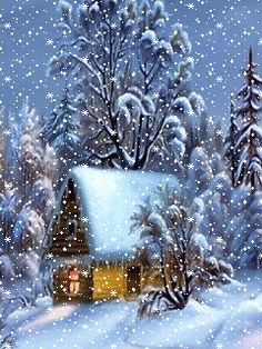I hope you have the best day with the . Christmas Scenery, Christmas Pictures, Christmas Art, Winter Christmas, Gif Noel, Xmas Gif, Christmas Paintings, Vintage Christmas Cards, Christmas Wallpaper