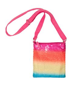 Take a look at this Pink Rainbow Sequin Crossbody Bag by Three Cheers for Girls on #zulily today!