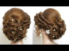 Wedding Prom Hairstyles For Long Hair – bun hairstyles for long hair Prom Hairstyles For Long Hair, Easy Hairstyles For Medium Hair, Indian Wedding Hairstyles, Box Braids Hairstyles, Front Hair Styles, Short Hair Styles Easy, Natural Hair Styles, Bridal Hair Buns, Bridal Updo