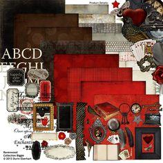 Ravenwood Collection Biggie, designed by Durin Eberhart, Scrap Girls, LLC digital scrapbooking product designer