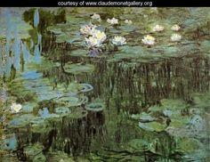 Water Lilies I - Claude Oscar Monet - www.claudemonetgallery.org