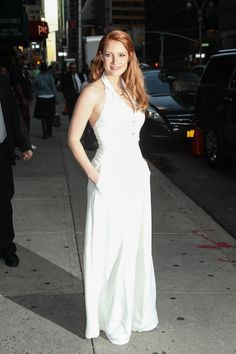 Jessica Chastain – 2014-10-16 – arriving at the 'Late Show with David Letterman' in New York (no. 3625)