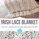 he motive for Irish lace is the decoration of the edge of the product. Motifs Afghans, Crochet Motifs, Crochet Hats, Irish Lace, Irish Crochet, Selling On Ebay, Blanket, Greek, Decoration