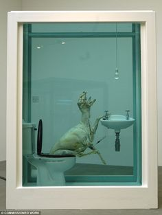 One of the three formaldehyde tanks used in the piece The Tranquillity Of Solitude on display at the Gagosian in London