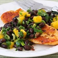 Roasted Tilapia with Black Bean, Mango, Lime and Cilantro Salsa by Kalyn's Kitchen