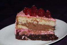 Denne lækre lagkage blev serveret som dessert til min 33 års fødselsdag for mine veninder. Jeg måtte jo udnytte, at mine hindbærbus...