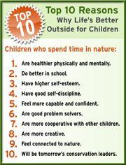 Nature.  Home school!!!!