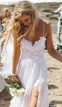 Sexy Spaghetti Straps Backless Lace Wedding dress Real Show From Our Customers USD $ 159.49 website:http://urlend.com/rqeq2ay