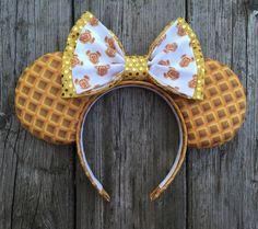 PREORDER: Mickey Waffles Inspired Mouse Ears Headband | Disney Breakfast Ears