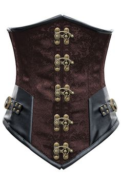 Part of this year's renfest costume - Brown brocade underbust corset