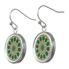 Christmas Mandala Earrings