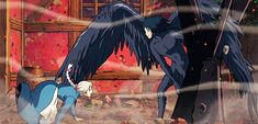 The Enchanted Forest Totoro, Studio Ghibli Art, Studio Ghibli Movies, Howl's Moving Castle, Personajes Studio Ghibli, Howl Pendragon, Howl And Sophie, Japon Illustration, Hayao Miyazaki