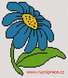 Blue flower, free cross stitch patterns and charts - www.has a lot more than flowers Cross Stitch Tree, Simple Cross Stitch, Cross Stitch Flowers, Cross Stitching, Cross Stitch Embroidery, Embroidery Patterns, Easy Cross Stitch Patterns, Cross Stitch Designs, Pixel Art