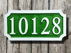 The Carving Company | Full Service Custom Carved Sign Shop | Custom House Number Plaque - Horizontal - Carved Wood Sign (A13)