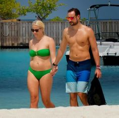 Norway's Crown Prince Haakon with his wife Crown Princess Mette-Marit during their romantic holiday in Maldives, the Royal couple both 40 years old and they still looks Hot!