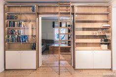 Ladder bookshelf.