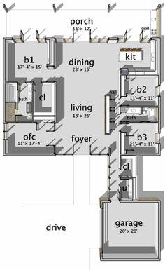 Metros Cuadrados 233 3 Dormitorios 2 Baños Garaje 2 Niveles 1