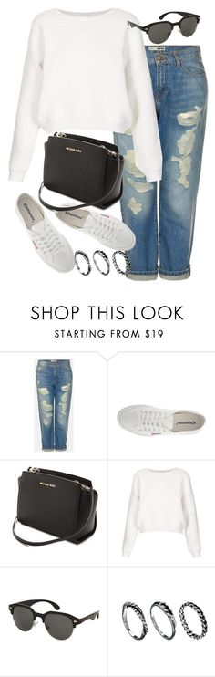 """Untitled #12072"" by florencia95 ❤ liked on Polyvore featuring Topshop, Superga, MICHAEL Michael Kors and DesignSix"