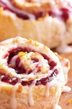 Need a fruity, decadent brunch that's on the table in 35 minutes? These raspberry-orange rolls are a hot ticket! And they're extra moist thanks to a little sour cream added into the batter. Pair them with juice, coffee, or maybe a mimosa or two.