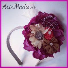 Woodie Vintage Custom Little Girl headband by ArinMadison