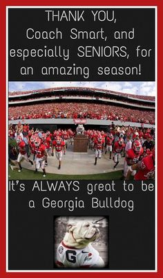 Hell of a season 2017! So proud of our Dawgs