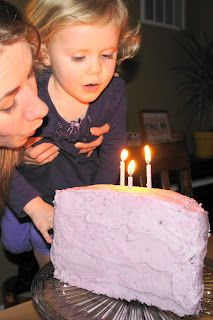 blueberry tinted frosting Happy Toddler Tummies: Chocolate Half Birthday Cake with Naturally Purple Frosting