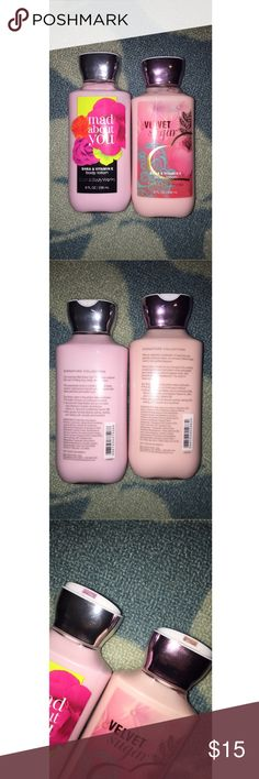 Velvet Sugar and Mad About You B&BW Lotion From bath and body works. Never been used. The mad about you and velvet sugar scents. Ask any questions!! bath and body works Makeup