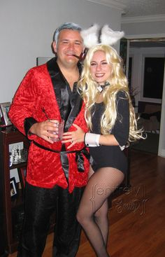 Hugh Hefner and Playboy Bunny Couples Halloween Costume