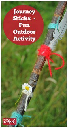Journey Sticks - fun outdoor children's activity!