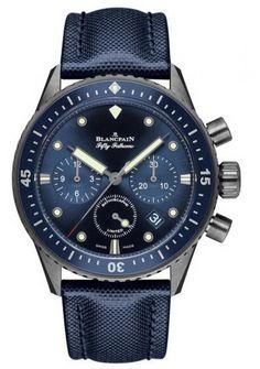 Blancpain 5200-0240-52A Fifty Fathoms Ocean Commitment Bathyscaphe Chronograph Flyback. #Blancpain