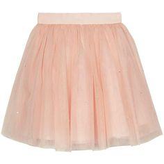 Baker By Ted Baker Girls Diamante Tulle Skirt (48 AUD) ❤ liked on Polyvore featuring skirts, ted baker, red tulle skirt, tulle skirt, ted baker skirt and knee length tulle skirt
