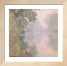 The Seine at Giverny, Morning Mists, 1897 by Claude Monet - art print from King & McGaw Claude Monet, Framed Artwork, Wall Art, Reproduction, All Poster, Famous Artists, Find Art, Les Oeuvres, Home Art