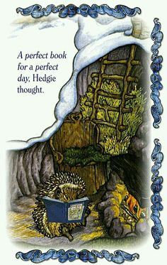 A perfect book for a perfect day, Hedgie thought.