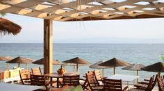 Porto Paradiso Beach Bar Restaurant.Vromolimnos Beach - Skiathos