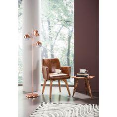 Retro Copper Floor Lamp - home sale Kare Design, Mesa Retro, Copper Floor Lamp, Retro Table, Deco Nature, Modern Floor Lamps, Estilo Retro, Home Lighting, Light Decorations