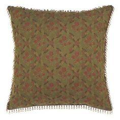 Amelie Dahlia Bark Pillow with Beaded Trim