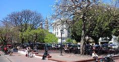 Plaza Dorrego em Buenos Aires #argentina #viagem