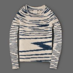 BILLY REID - Sketch HK Sweater in Navy and Cream from Mill Mercantile.