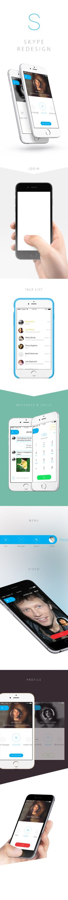 Mobile App Design Inspiration – Skype Redesign