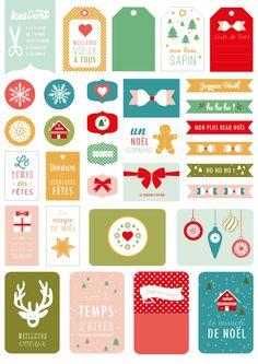 #Printable réalisé pour la marque de loisirs créatifs © Kési'art : une planche d'étiquettes à télécharger et imprimer ! Sur le thème de Noël - Amélie Poirier poirieramelie.blogspot.fr