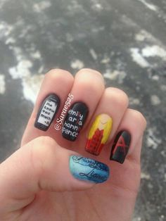 Nails Pretty Little Liars 42 Ideas Prety Little Liars, Pretty Little Liars Quotes, Cute Nail Art, Cute Nails, Pretty Nails, Fan Nails, Cute Nail Designs, Perfect Nails, Hair And Nails